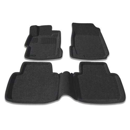 Findway 3D Floor Mats for 2003-2007 4-Door Honda Accord (26010BB) - Black