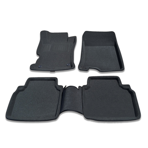 Findway 3D Floor Mats for 2008-2012 Honda Accord Sedan (26020BB) - Black