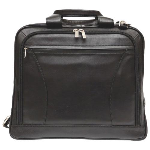 """Ashlin Alastar 15"""" Leather Briefcase - Black"""