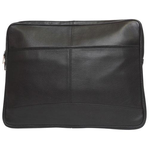 """Ashlin iSmart-III 13"""" Leather Laptop Sleeve - Black"""