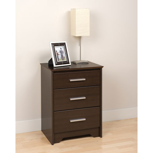 coal harbor 3drawer nightstand espresso brown
