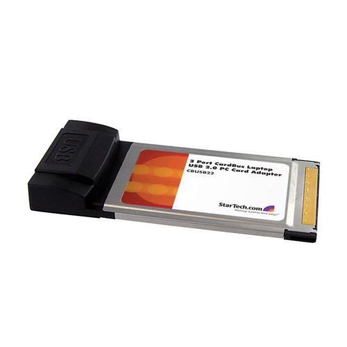 StarTech 2-Port CardBus Laptop USB 2.0 PC Card Adapter