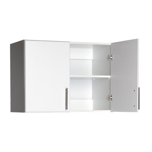 armoire murale empilable elite de 32 po de prepac (wew-3224) - blanc
