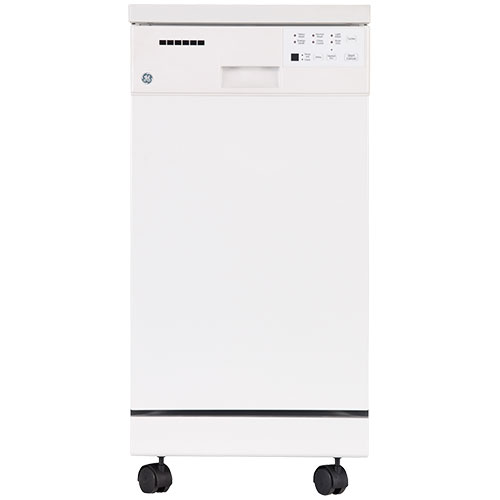 ge 18 portable dishwasher with stainless steel tub. Black Bedroom Furniture Sets. Home Design Ideas