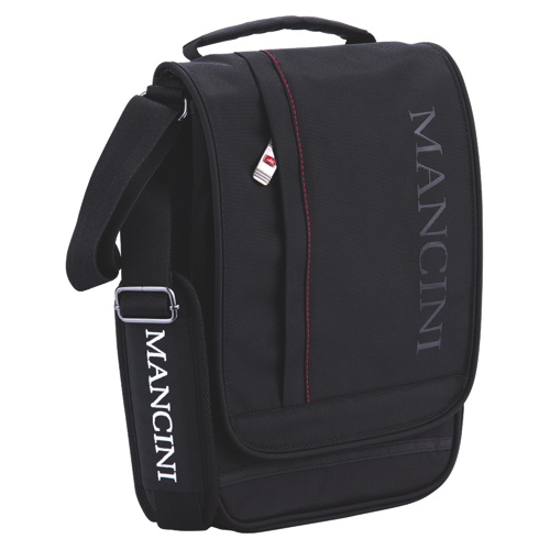 Mancini Tablet Messenger Style Unisex Bag (91044) - Black