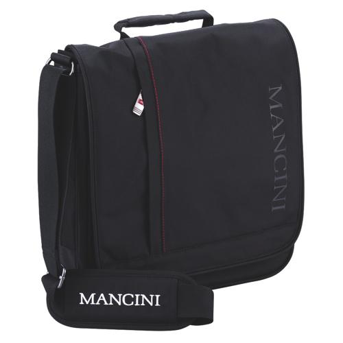 "Mancini 10.1"" Laptop/Tablet Messenger Style Unisex Bag (91045) - Black"