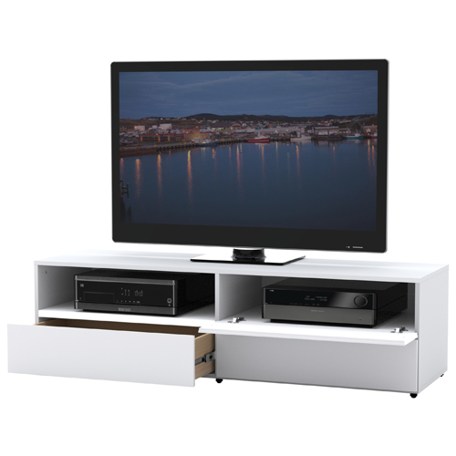"Nexera Traffic TV Stand for TVs Up To 62"" - White"