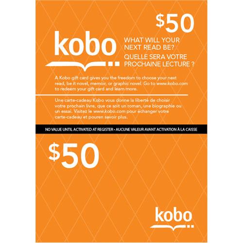 Carte prépayée de 50 $ de Kobo