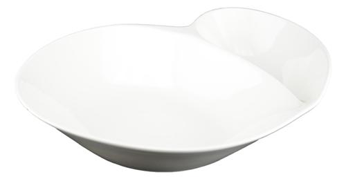 Tannex White Tie Spiral Service Bowl - White