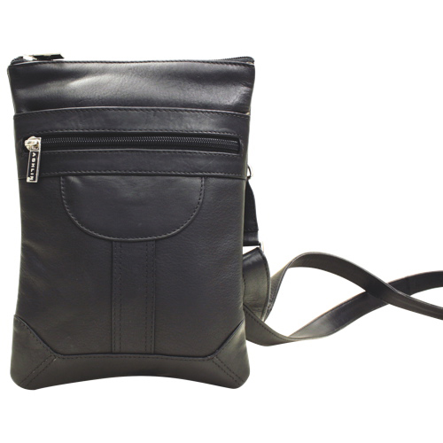 Ashlin Dorothy Leather Pouch - Black