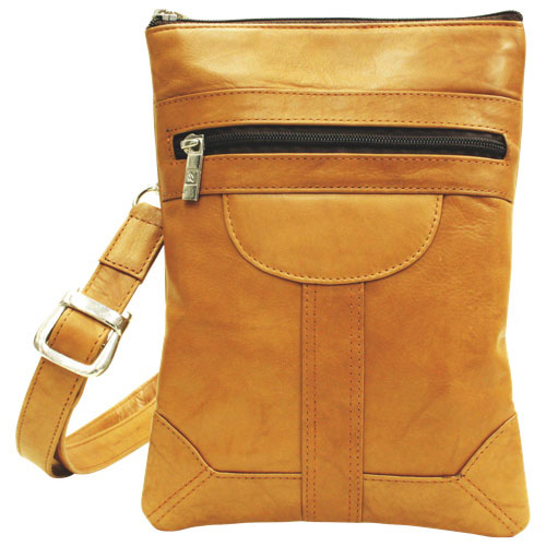 Ashlin Dorothy Leather Pouch - Brown