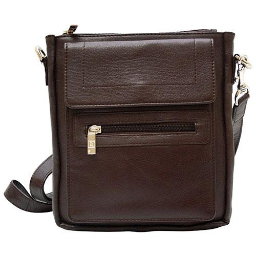 Ashlin Taysha Leather Pouch - Dark Brown