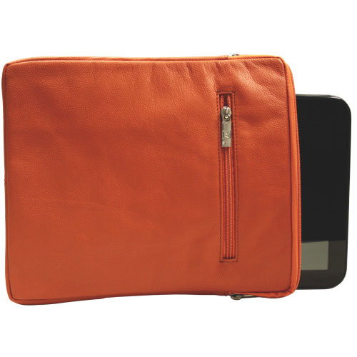 """Ashlin Taysha 10"""" Leather Tablet Case - Tangerine"""