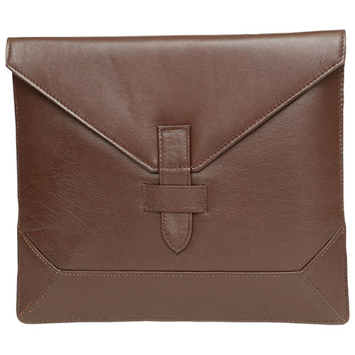 """Ashlin 10"""" Leather Envelope Tablet Case - Dark Brown"""