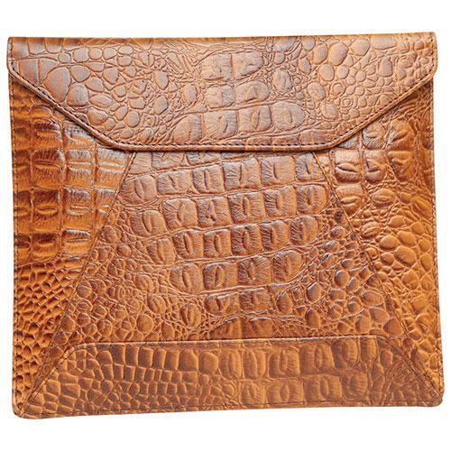 """Ashlin 10"""" Leather Envelope Tablet Case - Brown (PDT109-28-08)"""