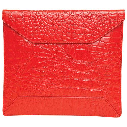 """""""Ashlin 10"""""""" Leather Envelope Tablet Case - Red"""""""