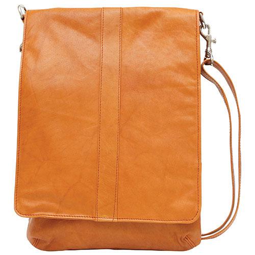 Ashlin Evan Leather Messenger Bag - Brown