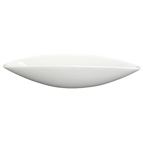 """Tannex Du Lait 12"""" Lunar Boat Bowl - White"""