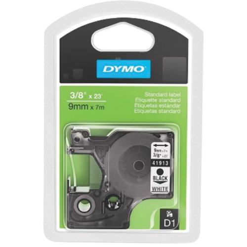 """DYMO 3/8"""" Standard D1 Tape (41913) - Black/White"""
