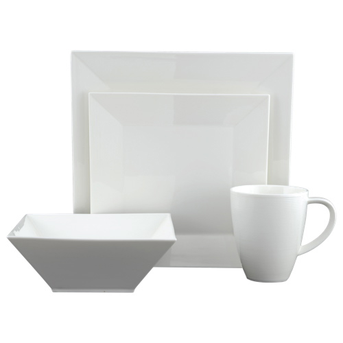 Tannex Heston 16-Piece Square Dinner Set (94817-16PHS) - White  Dinnerware Sets - Best Buy Canada  sc 1 st  Best Buy Canada & Tannex Heston 16-Piece Square Dinner Set (94817-16PHS) - White ...