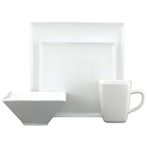 Service de table de 16 pièces de la collection White Tie de Tannex (94101-16PF) - Blanc