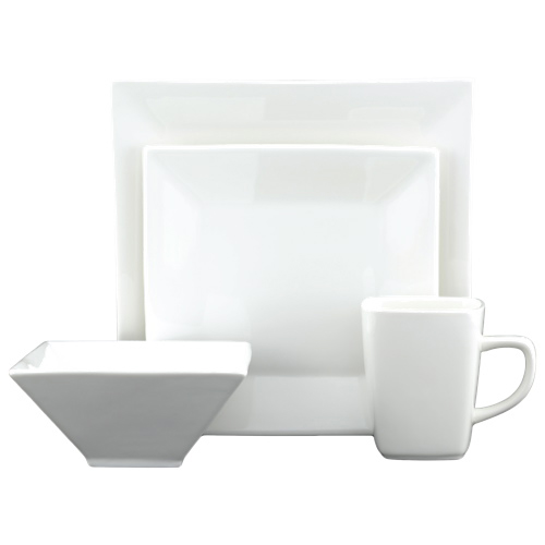 Tannex White Tie 16-Piece Dinner Set (94100-16PW) - White