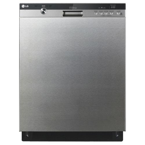 Lave-vaisselle encastrable grande capacité 24 po 48 dB LG avec cuve acier inox (LDS5540ST) - Inox