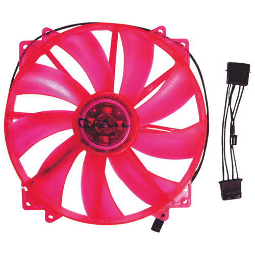 Apevia 200mm PC Case Cooling Fan - Red
