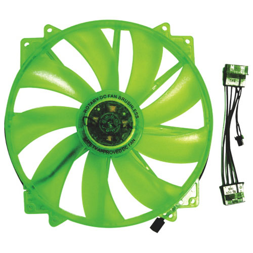 Apevia 200mm PC Case Cooling Fan - Green
