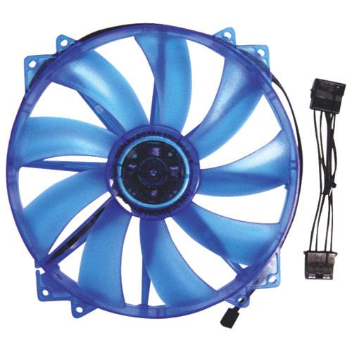 Ventilateur pour boîtier d'ordinateur de 200 mm d'Apevia - Bleu