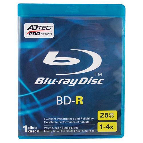 Disques BD-R 4x de 25 Go d'Adtec - Paquet de 10