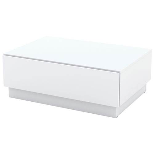 Traffic modern rectangular coffee table with drawer white coffee tables best buy canada Modern coffee table canada