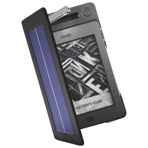 SolarFocus Solar Lighted Cover for Kindle Touch (SF-SLCKT) - Grey
