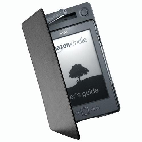 Couverture éclairée + alimentation de SolarFocus pour Kindle de 4e et 5e gén. (SF-PLKC1) - Gris