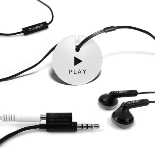 Écouteurs-boutons avec système Magneat d'Onanoff (RED-MAG-010) - Noir