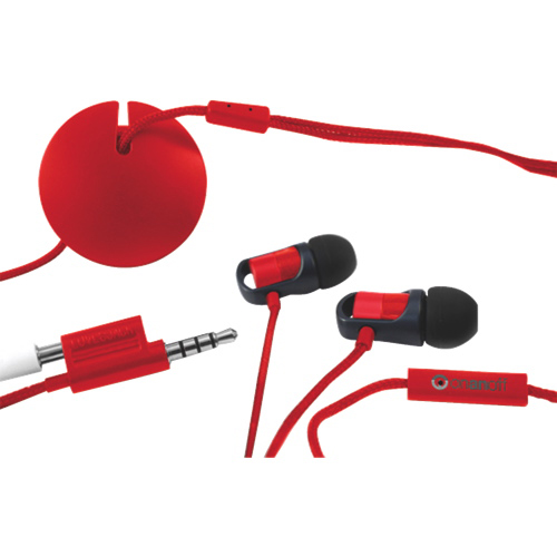 Onanoff In-Ear Headphones with Magneat (MAG-001-RED) - Red