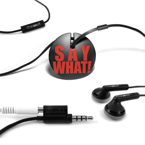 Onanoff In-Ear Headphones with Magneat (RED-MAG-008) - Black