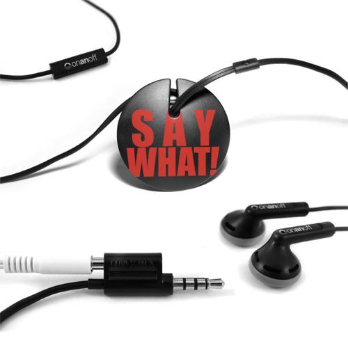 Écouteurs intra-auriculaires d'Onanoff avec Magneat (RED-MAG-008) - Noir