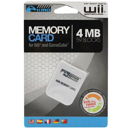 KMD 4MB Memory Card for Gamecube - White