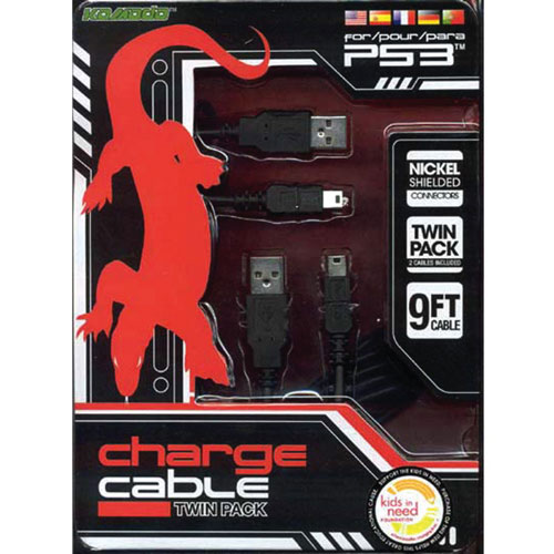 KMD USB/USB Mini Charge Cable - Black