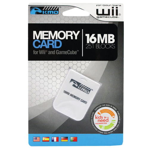 KMD 16MB Memory Card for Gamecube - White