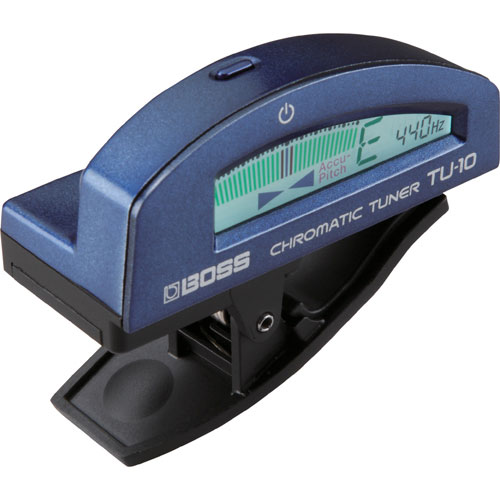 BOSS Clip-On Chromatic Tuner (TU-10) - Blue