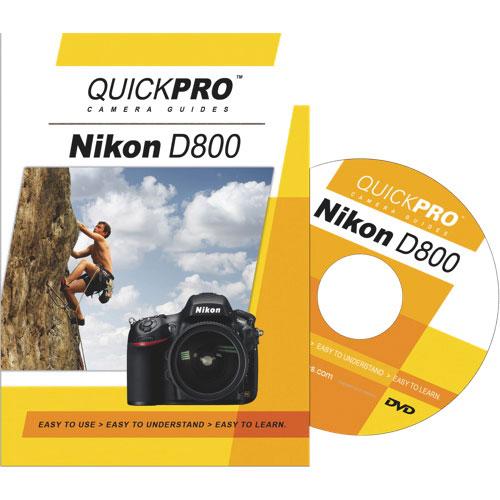 Guide DVD de l'appareil photo Nikon D800 de QUICKPRO (QG1659)
