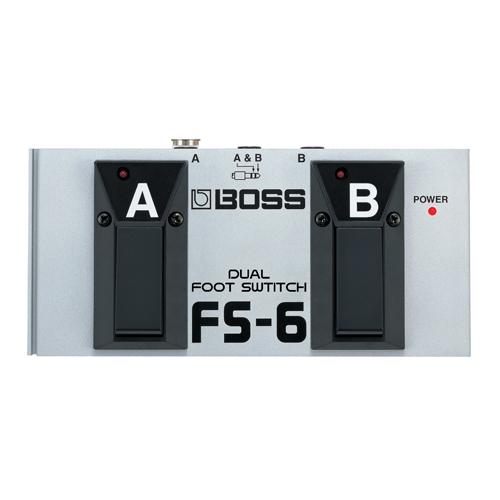 Pédale d'effets à double commutation de BOSS (FS-6)