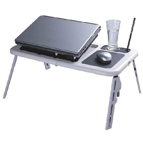 MMNOX Laptop Table with Fan (5188A) - Black/White