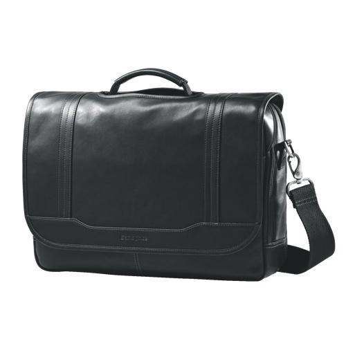 Samsonite Leather Flap Over Business Bag (49536-1041) - Black 9aaf71e2cd2d5