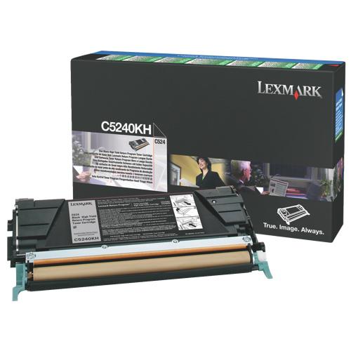 Cartouche de poudre d'encre noire C5240KH de Lexmark (C5240KH)