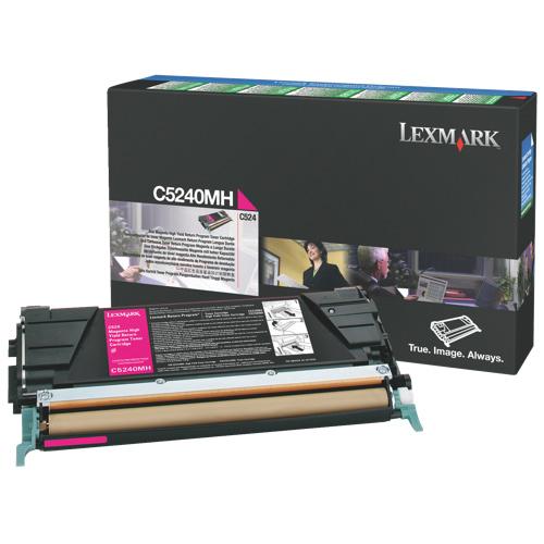 Cartouche de poudre d'encre magenta C5240MH de Lexmark (C5240MH)