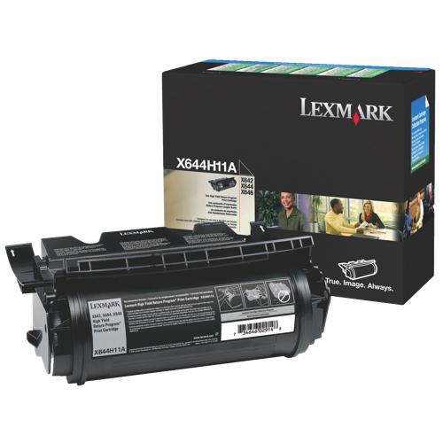 Cartouche de poudre d'encre noire X644H11A de Lexmark (X644H11A)