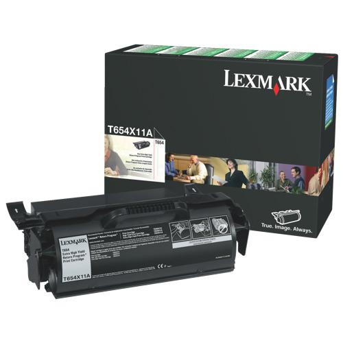 Cartouche de poudre d'encre noire T654X11A de Lexmark (T654X11A)